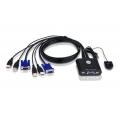 2-портовый кабельный USB KVM переключатель Aten CS22U-A7